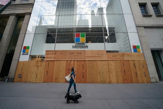 Une boutique Microsoft dans le quartier de Manhattan à New York, vendredi 26 juin.