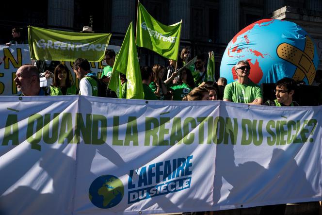 Manifestation pour le climat organisée dans le sillage de la pétition en ligne « L'Affaire du siècle», à Lyon, en mars 2019.