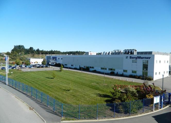 L'usineBorgWarner d'Eyrein, près de Tulle, en Corrèze.