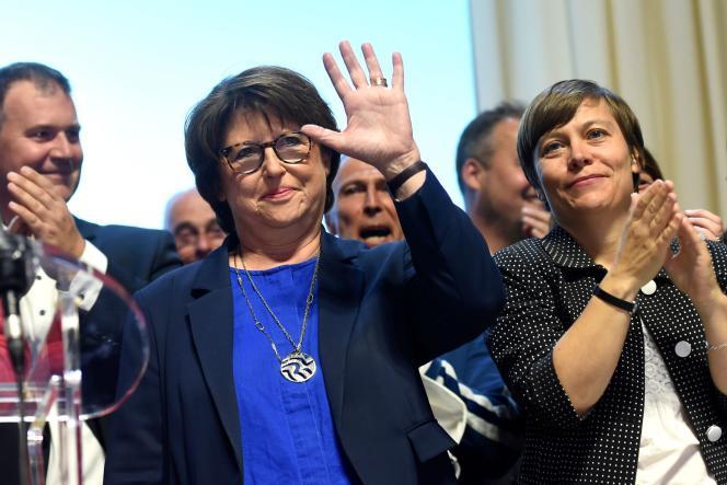Martine Aubry, lors de sa réélection à la mairie de Lille, le 28 juin 2020.