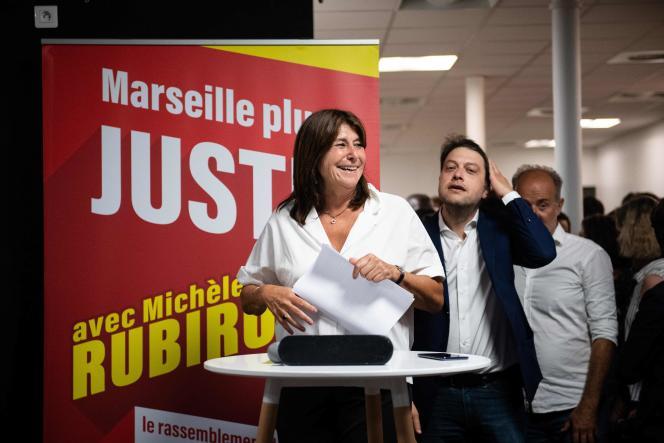 Michèle Rubirola, candidate du Printemps marseillais, au soir du deuxième tour des municipales à Marseille, le 28 juin 2020.