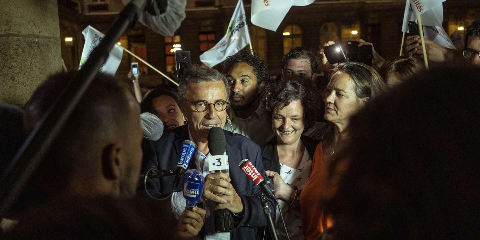 L'écologiste Pierre Hurmic a remporté les municipales à Bordeaux, dimanche 28 juin.