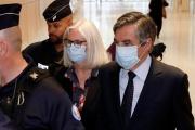 Penelope et François Fillon au tribunal correctionnel de Paris, le 29 juin 2020.