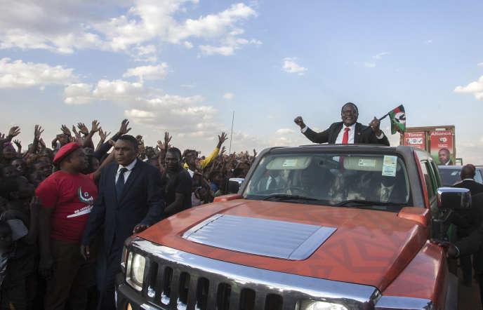 Le leader de l'opposition malawite, Lazarus Chakwera, pendant la campagne présidentielle, à Lilongwe, le 20juin 2020.