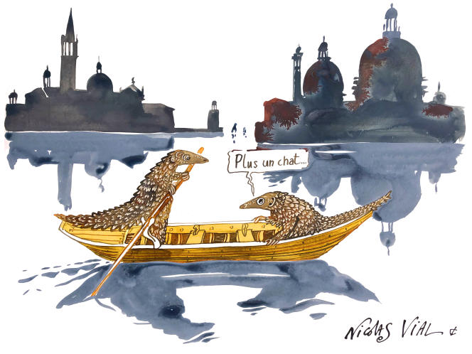 « Venise à livre ouvert», de Nicolas Vial, pour le« Journal du Covid-19», d'Eric Fottorino.
