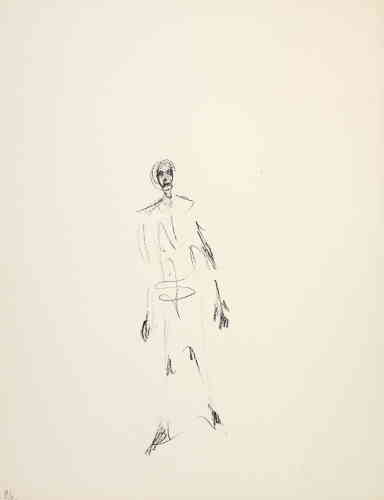 «De 1959 à sa mort, Giacometti travaille sur un projet de livre pour son ami l'éditeur Tériade. L'ouvrage, intitulé