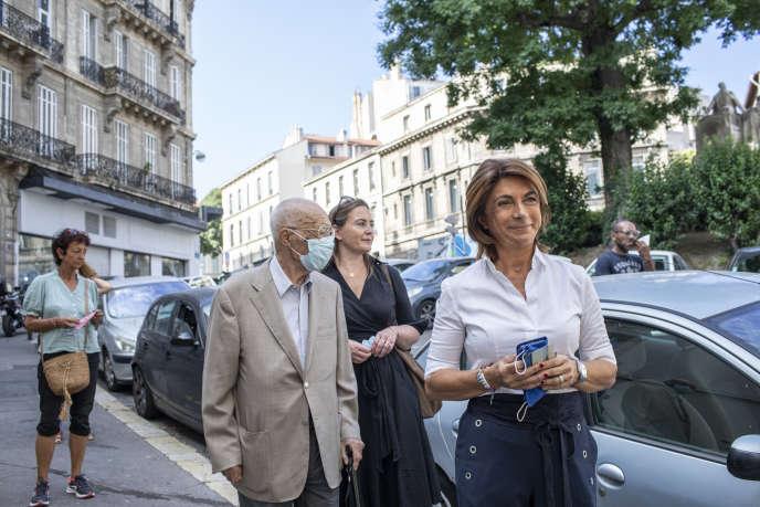 La candidate des Républicains (LR) Martine Vassal lors du second tour des municipales à Marseille, le 28juin.