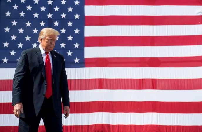 Le président des Etats-Unis, Donald Trump, à Marinette, dans le Wisconsin, le 25 juin.