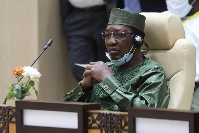 Le président tchadien, Idriss Déby Itno, à Nouakchott, lors du sommet du G5 Sahel, mardi30juin2020.
