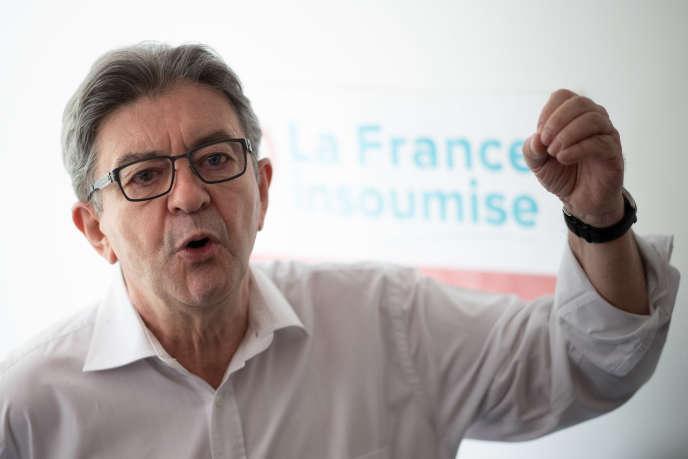 Le chef de file de La France insoumise (LFI), Jean-Luc Mélenchon, le 14 mai 2020.