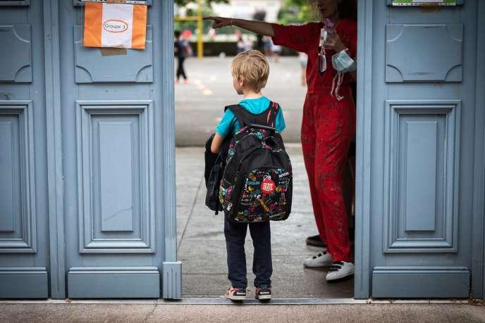 A l'école élémentaire Jules-Julien de Toulouse, le 22 juin.
