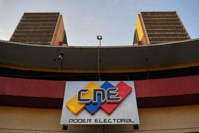 Le siège du Conseil national électoral à Caracas, le 8 mars 2020.