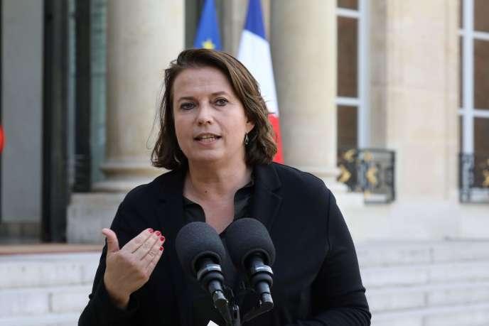 Claire Hédon, alors présidente d'ATD Quart Monde, au palais de l'Elysée, en octobre 2017.