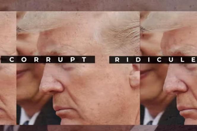 Une publicité télévisée du Lincoln Project. Ce groupe de républicains anti-Trump compte un million d'abonnés sur Twitter.