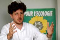 Le secrétaire national d'Europe Ecologie-Les Verts, Julien Bayou, à Montreuil le 29 juin.