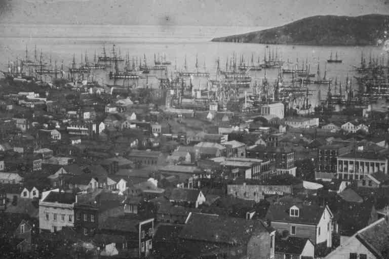 View of San Francisco harbor] Contributor Names McIntyre, Sterling C., photographer Created / Published [1851 Jan.] Subject Headings -  Harbors--California--San Francisco--1850-1860 -  San Francisco (Calif.) Headings Daguerreotypes--1850-1860. Landscape photographs--1850-1860. Genre Daguerreotypes--1850-1860 Landscape photographs--1850-1860