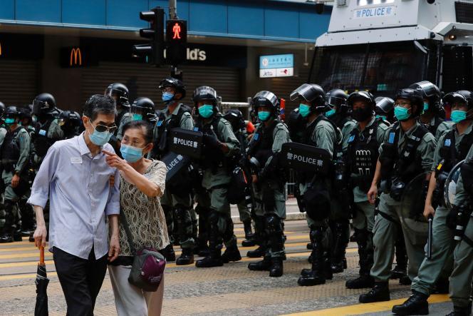 A Hongkong, le 1er juillet.