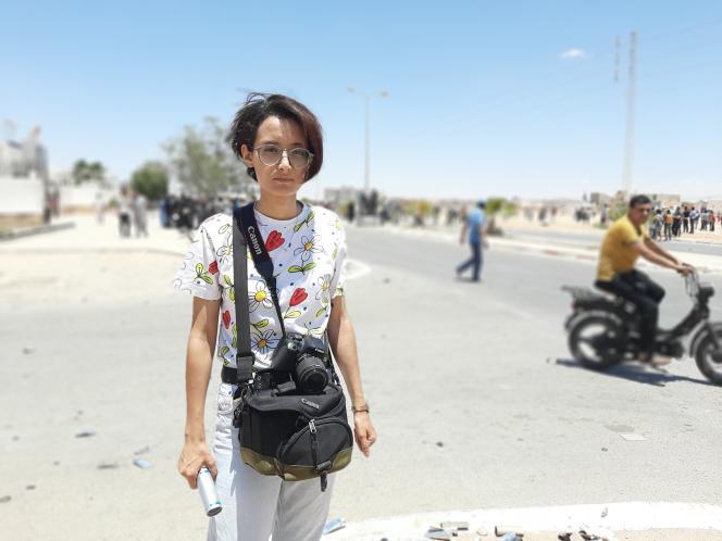 Nada Essaghier, 25 ans et jeune photographe indépendante, à Tataouine, en juin 2020.