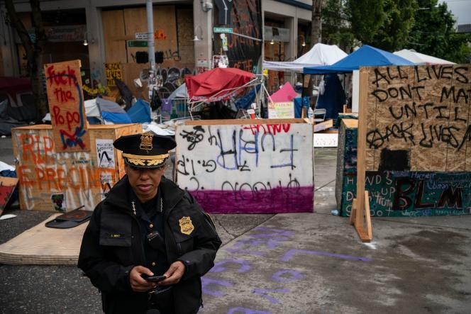 Carmen Best, la cheffe de la police de Seattle, mercredi 1er juillet.