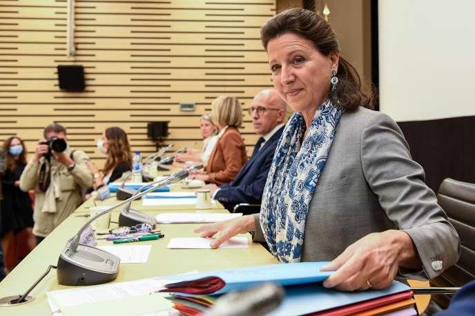 Agnès Buzyn lors de son audition par la commission d'enquête parlementaire sur la crise sanitaire, à l'Assemblée nationale le 30 juin.