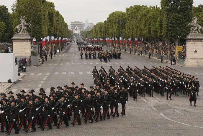 Lors du défilé militaire du 14-juillet, en 2019.