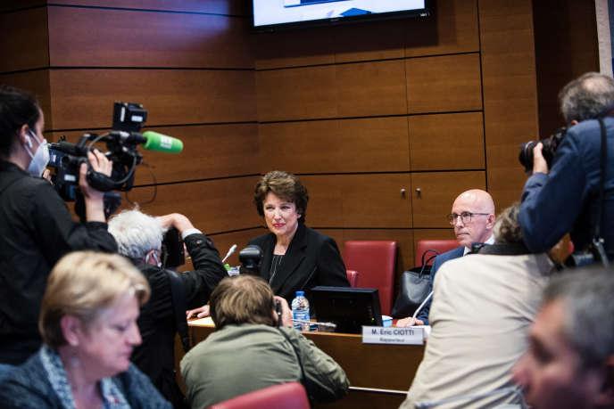 Audition de Roselyne Bachelot, ancienne ministre de la santé et des sports, par la mission d'information sur l'impact, la gestion et les conséquences de l'épidemie de Covid-19, à l'Assemblée nationale, le 1erjuillet.