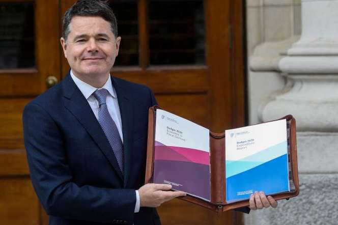 L'Irlandais Paschal Donohoe, ici en octobre 2019, a été élu le 9 juillet président de l'Eurogroupe.