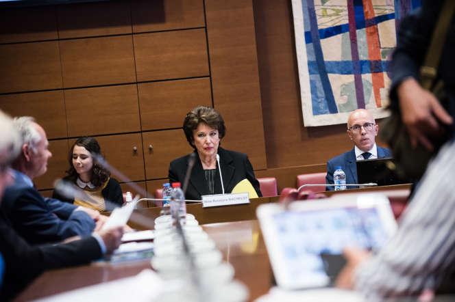 Audition de Roselyne Bachelot, ancienne ministre de la santé et des sports, à l'Assemblée nationale, le 1er juillet.