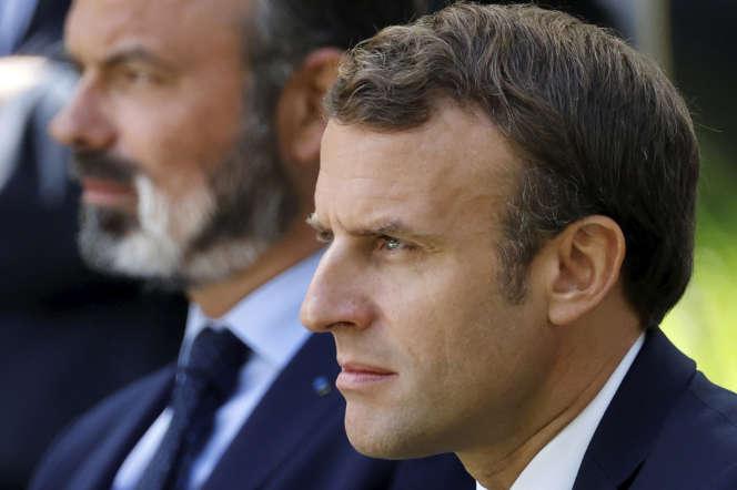 Emmanuel Macron et Edouard Philippe, à l'Elysée, le 29 juin.