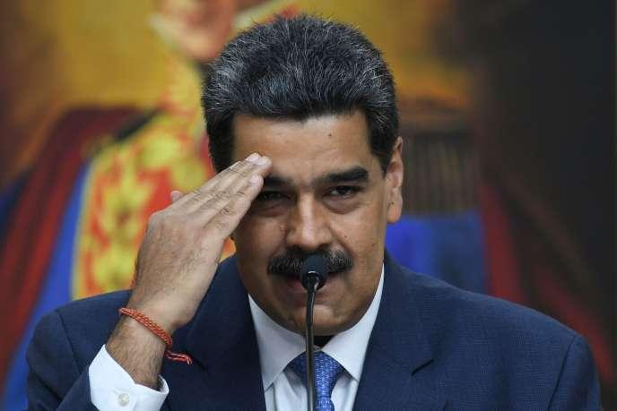 Le président vénézuélien, Nicolas Maduro, au palais de Miraflores à Caracas, le 14 février.