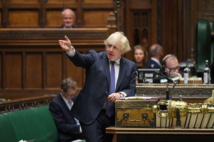 Le premier ministre britannique, Boris Johnson, à la chambre des communes à Londres, le 1er juillet.