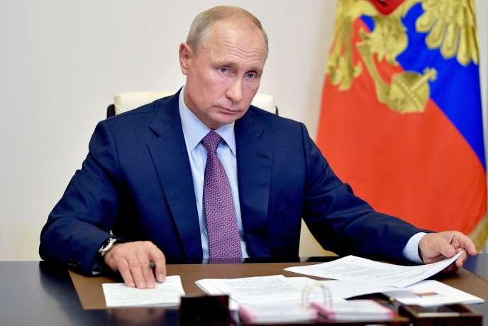 Vladimir Poutine, le 2 juillet 2020, à Moscou, en Russie.