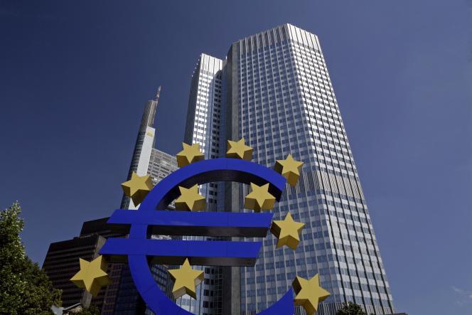 Le siège de la Banque centrale européenne à Francfort-sur-le-Main, Hesse, Allemagne.