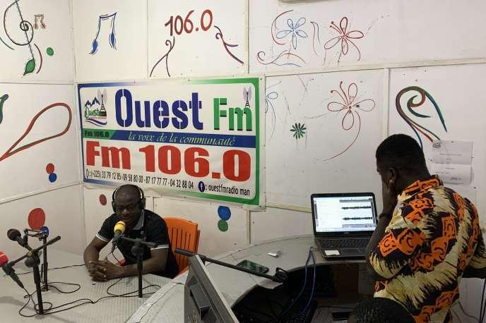 Said Salaou, journaliste et directeur de la radio Ouest FM, à Man, en Côte d'Ivoire.