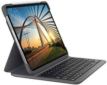 Le meilleur étui clavier d'un fabricant tiers pour l'iPad Pro 11 pouces (1e et 2e générations) Le Slim Folio Pro de Logitech pour l'iPad Pro 11 pouces (2e génération)