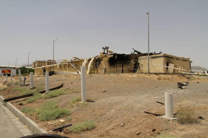 Le site endommagé du complexe nucléaire iranien de Natanz, Iran, le 2 juillet 2020.