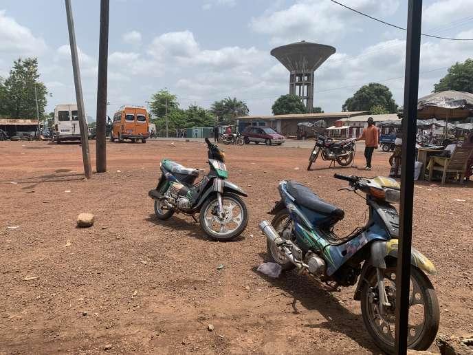 La gare routière de Danané, en Côte d'Ivoire.