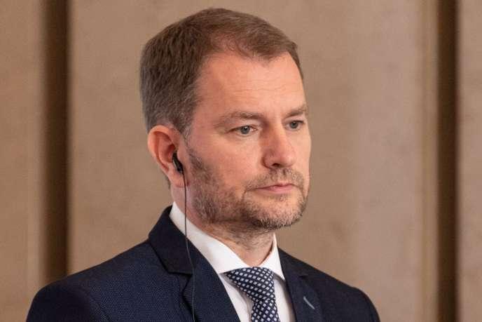Le premier ministre slovaque, Igor Matovic (ici à Varsovie, en Pologne), le 3juillet 2020.