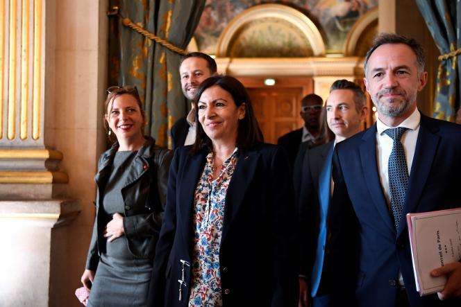 La maire de Paris, Anne Hidalgo, à l'hôtel de ville, le 3 juillet.