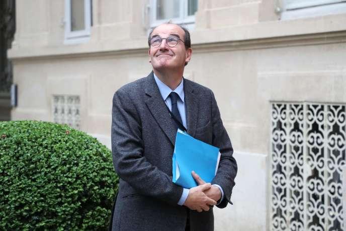 Le nouveau premier ministre, Jean Castex, au ministère de l'intérieur, le 29 avril 2020.