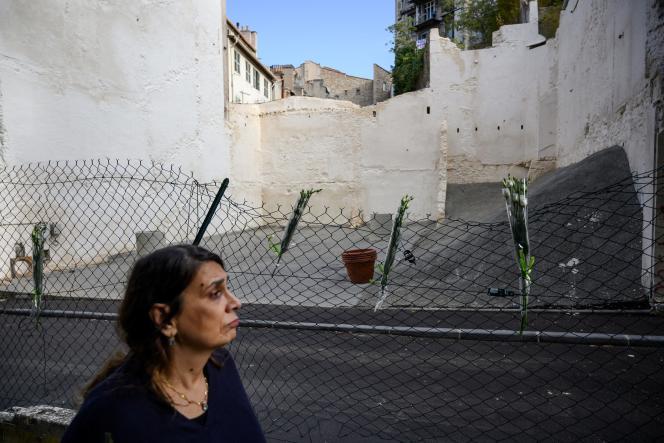 Hommage aux victimes de l'écroulement des immeubles de la rue d'Aubagne à Marseille, en novembre 2019.