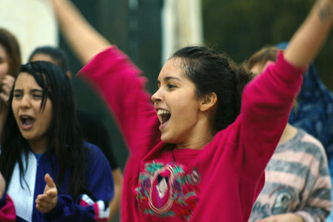 Lyna Khoudri (Wassila) dans le film « Papicha», de Mounia Meddour.