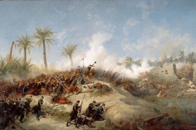«Prise d'assault de la Zaatcha (1849)», par Jean-Adolphe Beauce.