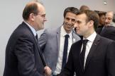 Emmanuel Macron et Jean Castex, le 9 janvier 2019.