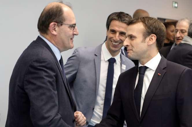 Jean Castex et Emmanuel Macron, le 9 janvier 2019.