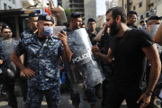 Manifestation contre la dégradation de la situation économique, à Beyrouth, le 3 juillet 2020.