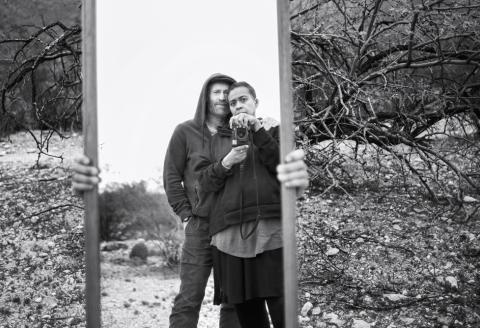 Thomas Houseago et Muna El Fituri à Sabino Canyon dans l'Arizona, le 21 février 2020