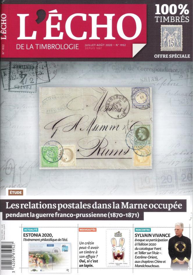 « L'Echo de la timbrologie », 84 pages, 5,50 euros. En vente par correspondance ou par abonnement auprès de l'éditeur, Yvert et Tellier à Amiens (Somme).