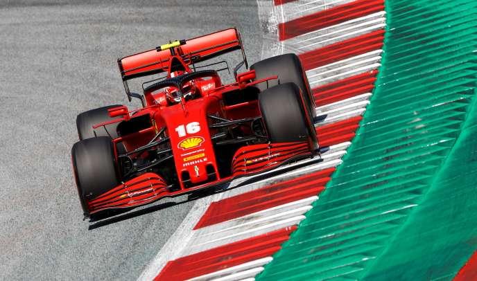 Charles Leclerc, le 4 juillet, lors des essais du Grand Prix d'Autriche, le 4 juillet 2020.