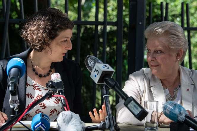 Jeanne Barseghian et Catherine Trautmann, le 4 juillet 2020